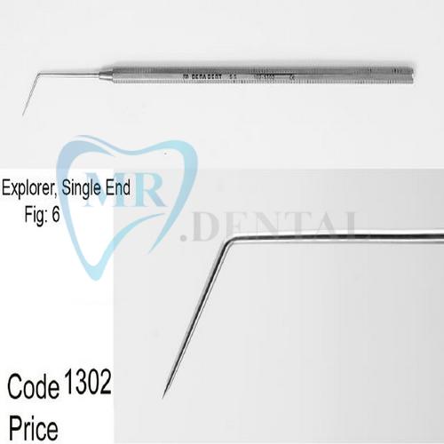 سوند دندانپزشکی یکسر صاف کوتاه دنا پویا 1302